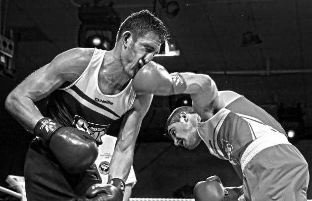 Joe Ward in action against Matthew Tinker