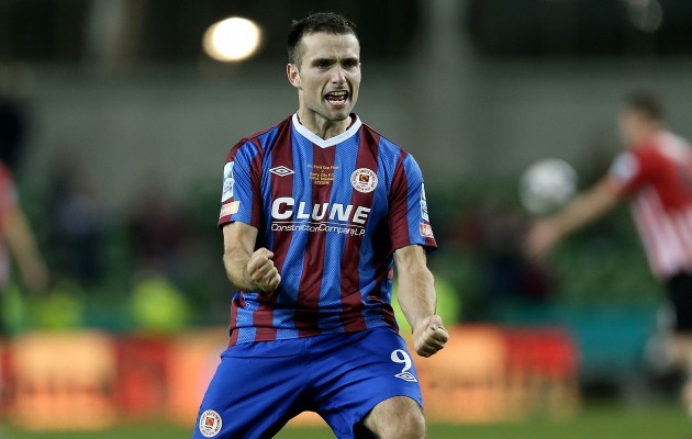 Christy Fagan at the final whistle