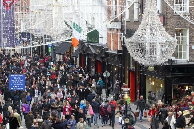 Christmas Shopping on Grafton Street.