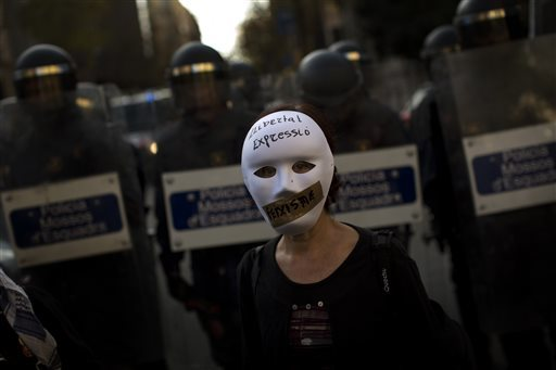 Spain Protest Fines