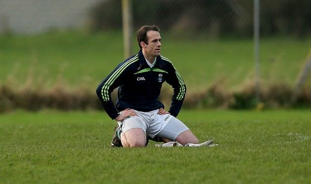 Brian Enright at the end of the game
