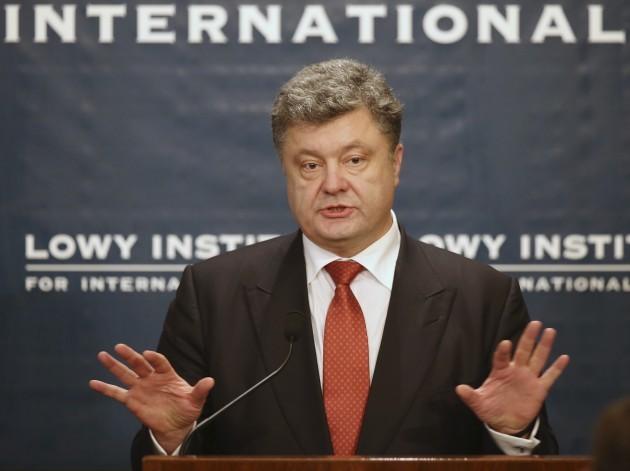 Australia Ukraine Poroshenko