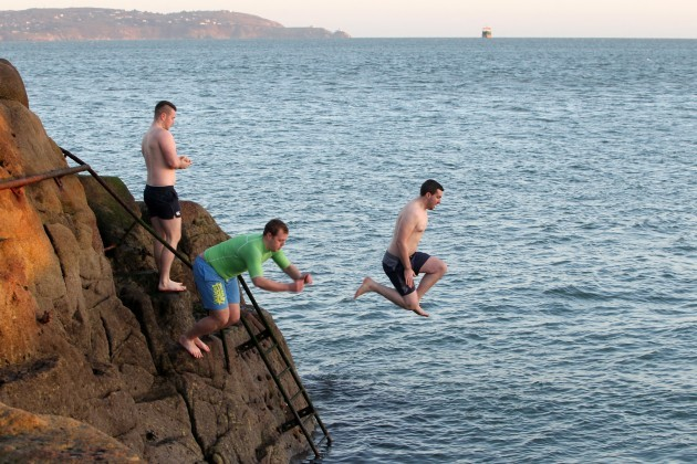 Christmas Day Forty Foot Swim. Picture