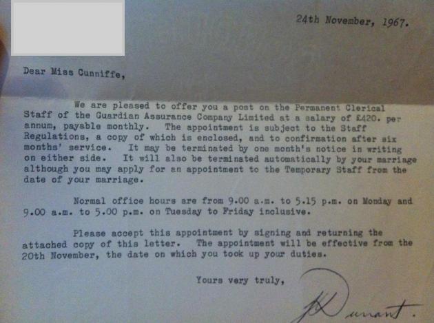 letter of terminatino