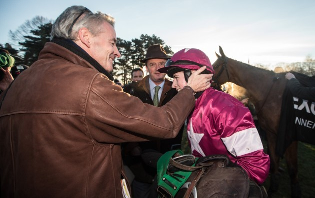 Bryan Cooper celebrates with Owner Michael O'Leary