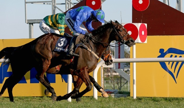 Ruby Walsh on Hurricane Fly comes home to win ahead of Tony McCoy on Jezki