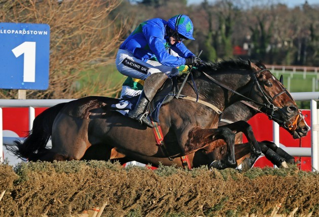 Ruby Walsh onboard Hurricane Fly clears the last hurdle