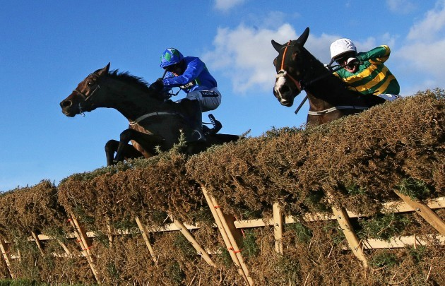 Ruby Walsh onboard Hurricane Fly clears the last