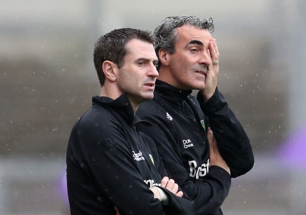 Rory Gallagher and Jim McGuinness