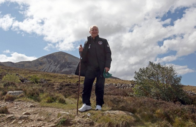 Giovanni Trapattoni on Croagh Patrick