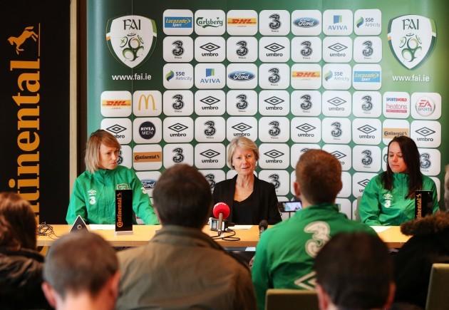 Stephanie Roche, Sue Ronan and Aine OÕGorman