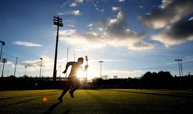 Cian Healy during his fitness training