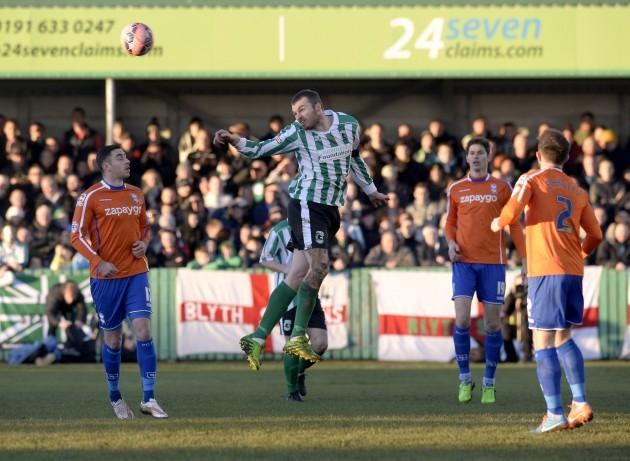 Soccer - FA Cup - Third Round - Blyth Spartans v Birmingham City - Croft Park