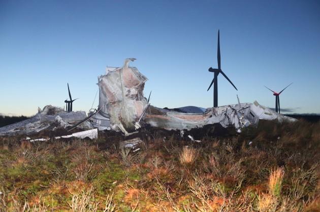 Collapsed turbine