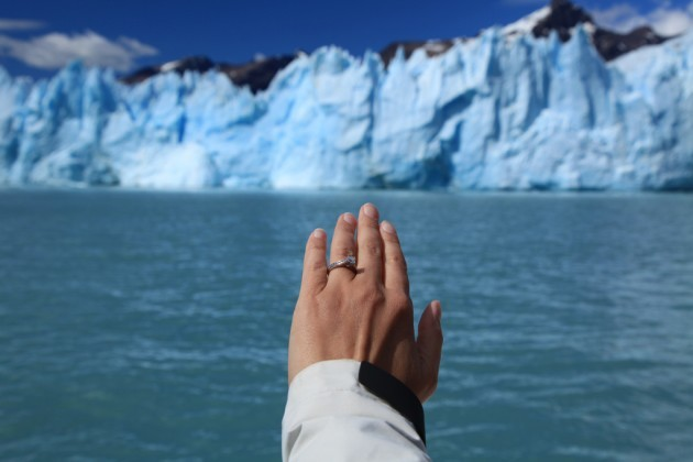 Engaged! at Perito Moreno Glacier