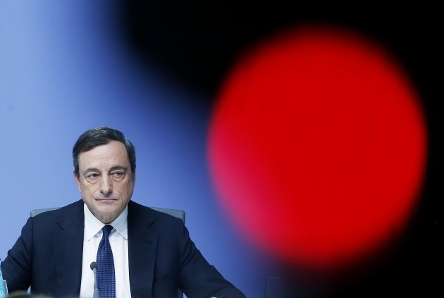 ECB president Mario Draghi is under pressure to act