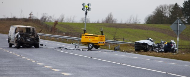7/12015. Kildare Crash. The van and car which were