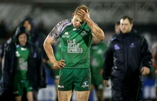 Darragh Leader dejected after the game