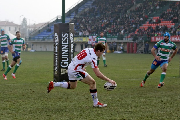 Paddy Jackson socres a try