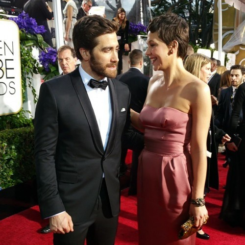 Jake and Maggie Gyllenhaal #GoldenGlobes #RedCarpet