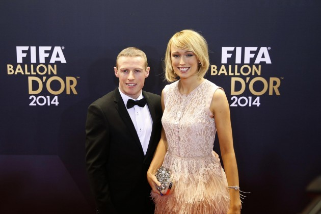 Stephanie Roche with boyfriend Dean Sambra