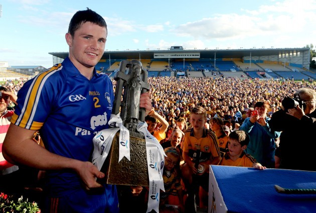 Paul Flanagan with the trophy
