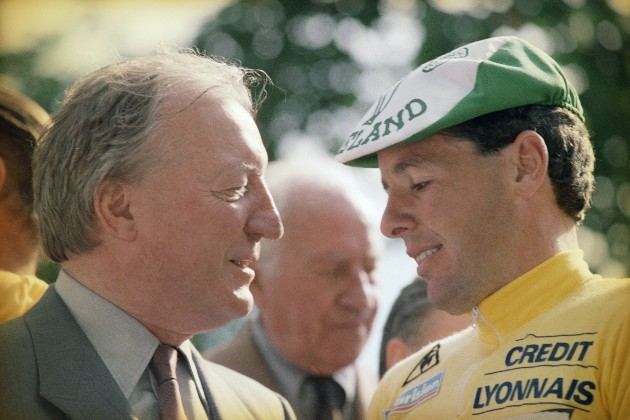 Charles Haughey and Stephen Roche