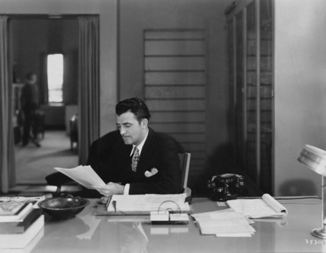 Art Director Cedric Gibbons in His Office