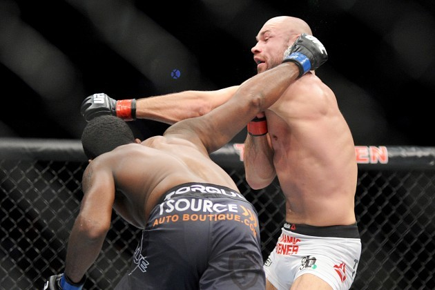 Sean Spencer lands one on Cathal Pendred