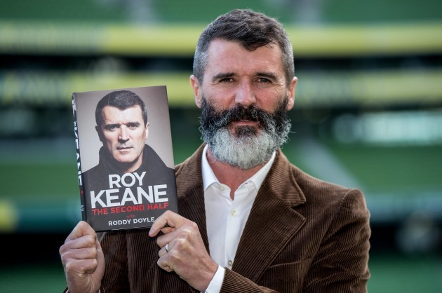 Roy Keane with his new book 'The Second Half'