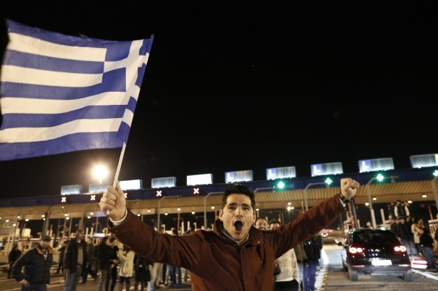 Greece Toll Protest