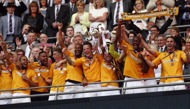 Soccer - Skrill Football Conference - Play-off Final - Cambridge United v Gateshead - Wembley