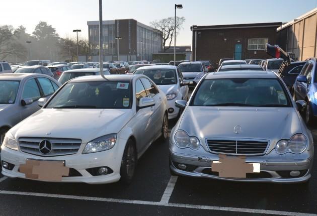 SIEZED MERCEDES CARS