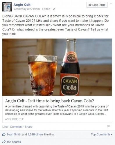 cavan cola anglo celt fb