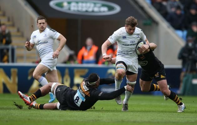 Jordi Murphy tackled by Nathan Hughes