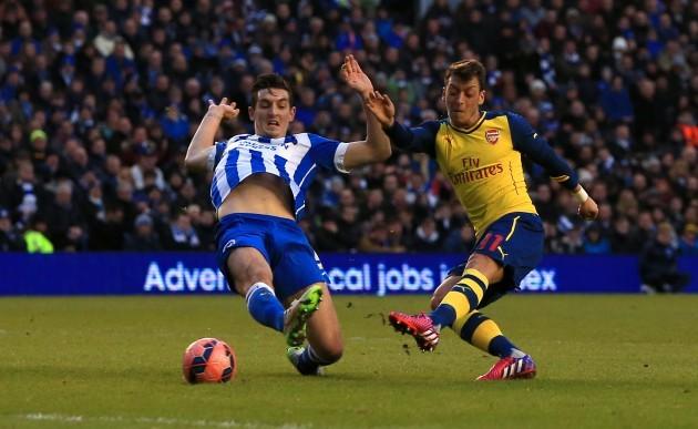 Soccer - FA Cup - Fourth Round - Brighton and Hove Albion v Arsenal - AMEX Stadium