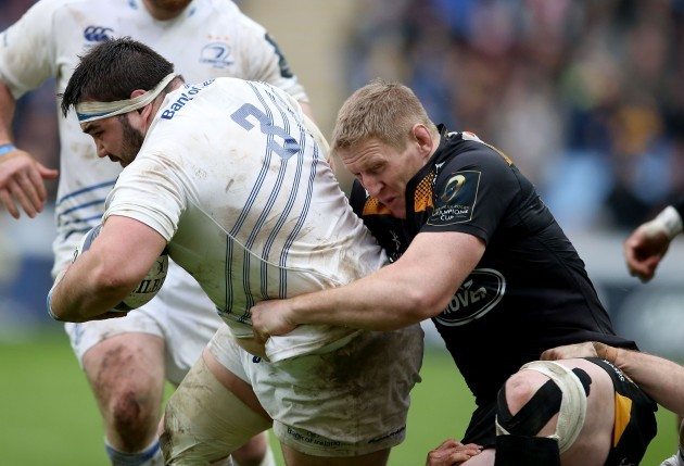 Marty Moore tackled by Bradley Davies