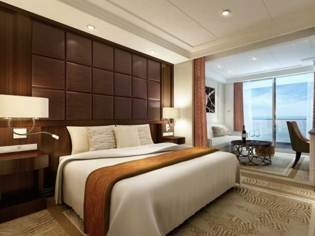 the-ship-is-made-up-of-all-suites-with-adjoining-balconies--no-windowless-rooms-here-the-deluxe-suite-is-appropriately-lavish-with-double-bed-as-well-as-a-sitting-room-between-the-bedroom-and-balcony