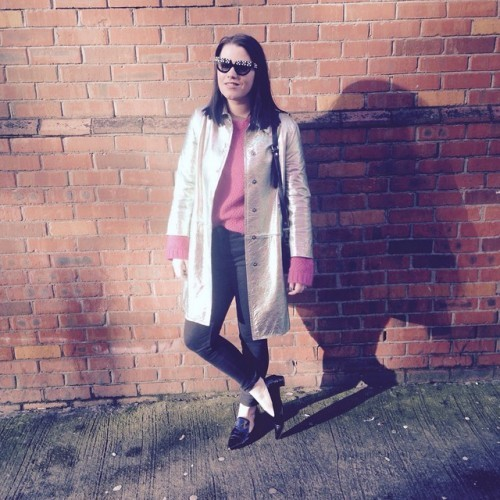 No socks, sunnies and a shiny coat #ootd @liketoknow.it www.liketk.it/NPLE #liketkit