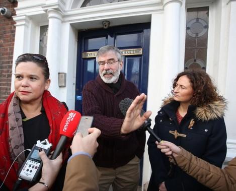 Sinn Fein. Pictured (LtoR) Deputy Lead