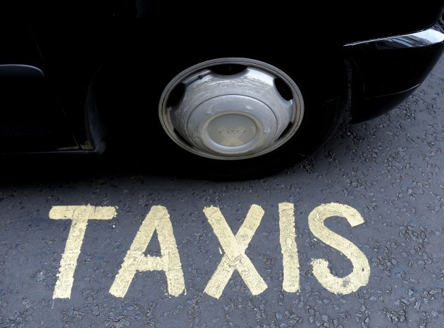 London taxis in go-slow protest