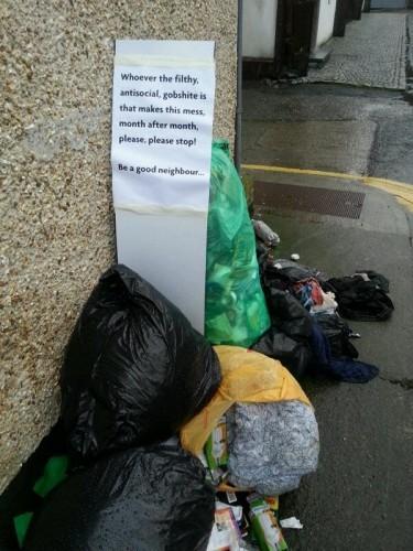 litter dumping