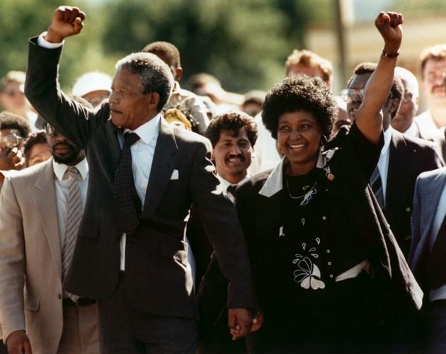 Politics - Nelson Mandela Release - South Africa