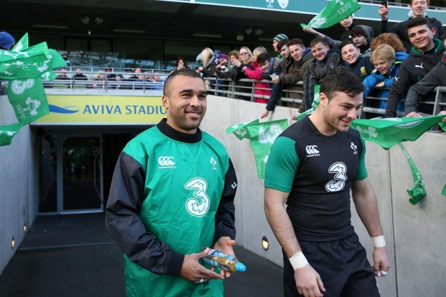 Simon Zebo and Robbie Henshaw