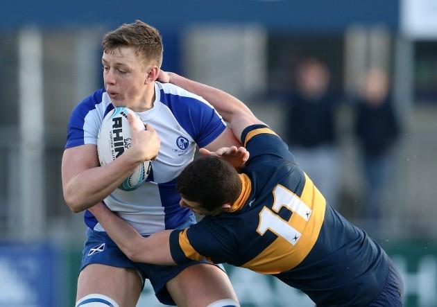 David Smith tackles Jonny Guy