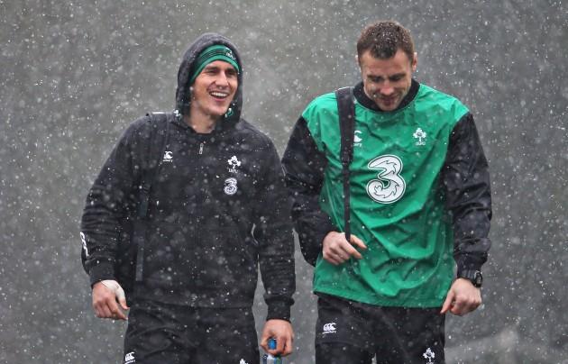 Ian Keatley and Tommy Bowe