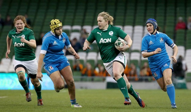 Niamh Briggs makes a break
