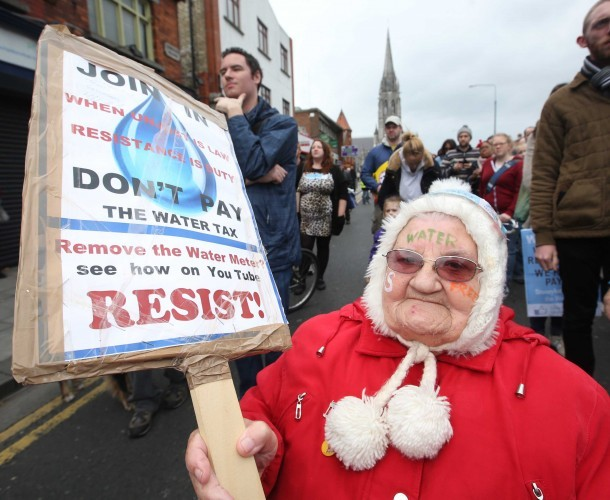 File Photo More Water Charges Protests In Dublin Tomorrow.