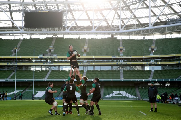 Devin Toner during line-out practice