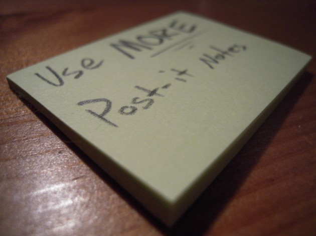 Use MORE Post-it Notes